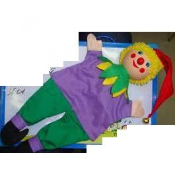 Деревян. марионетка «Клоун» 36см