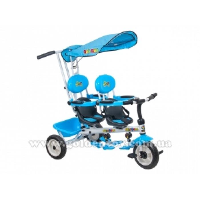 Велосипед 3-х колёсный двухместный Супер трешка