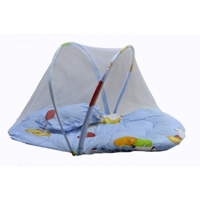Коврик для младенца с москитной сеткой,подушкой, в сумке