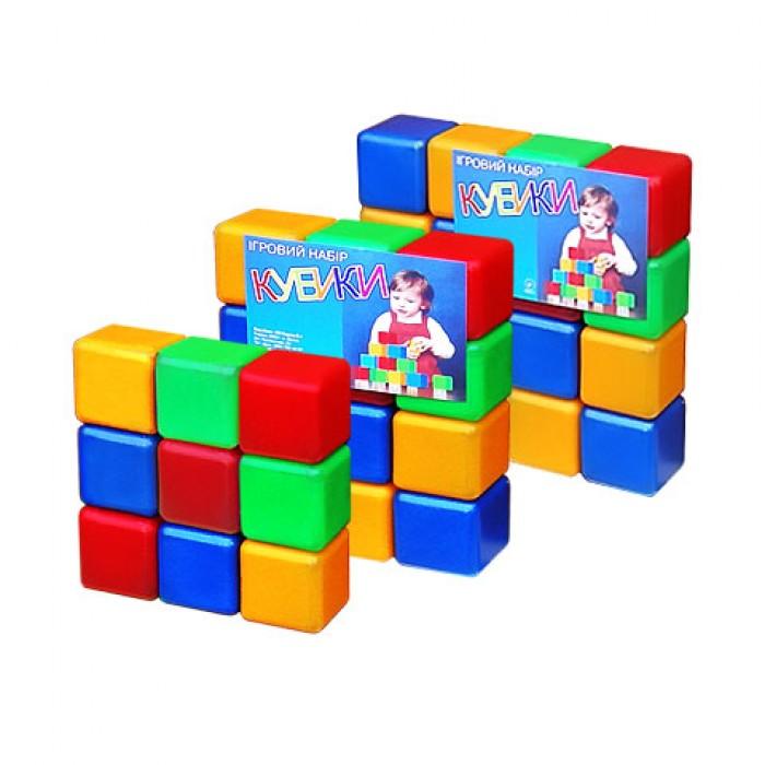 Кубики цветные, 9 шт