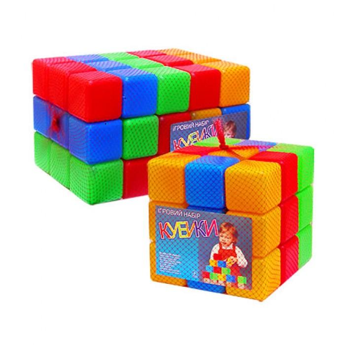 Кубики цветные, 27 шт