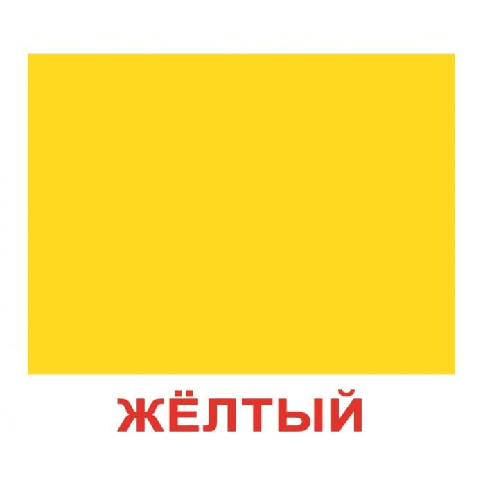 Карточки большие русские с фактами «Форма и цвет» 20шт