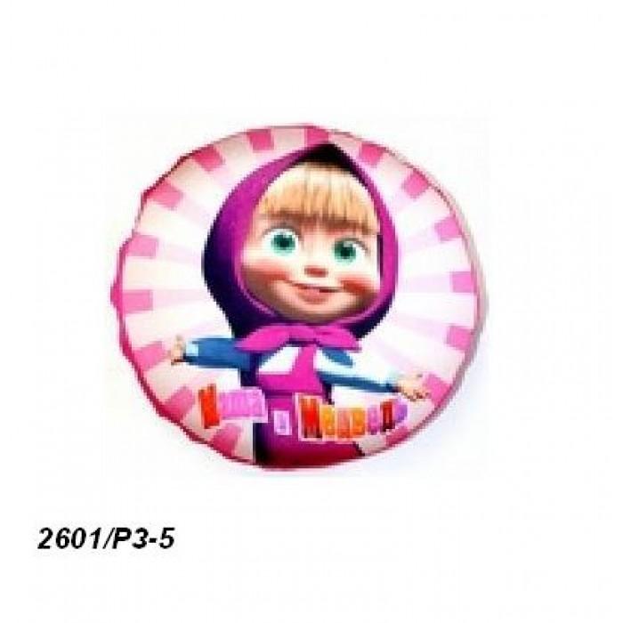 Подушка-антистресс, розовая, диаметр 22см