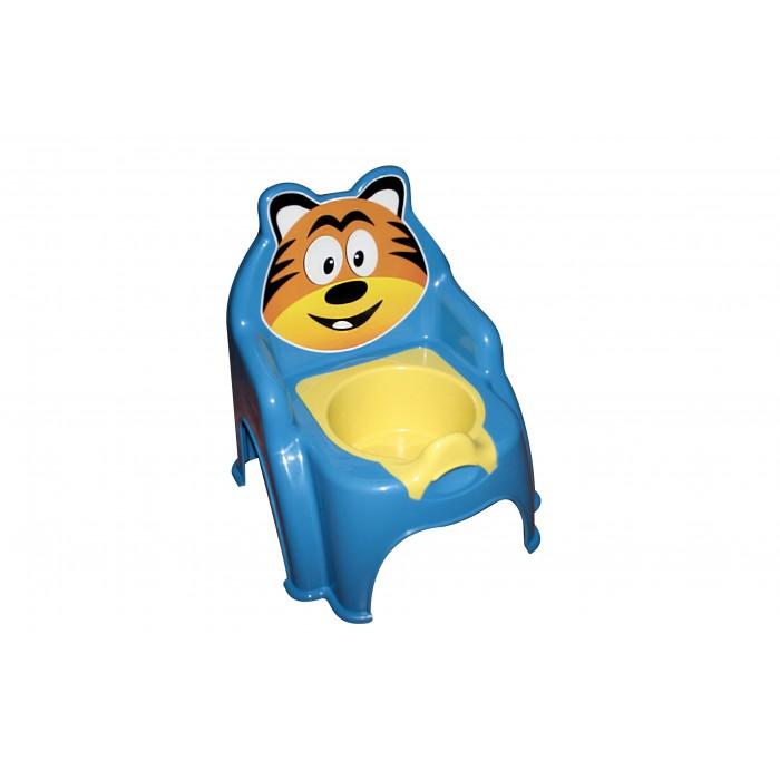 Горшок детский «Тигрёнок», голубой
