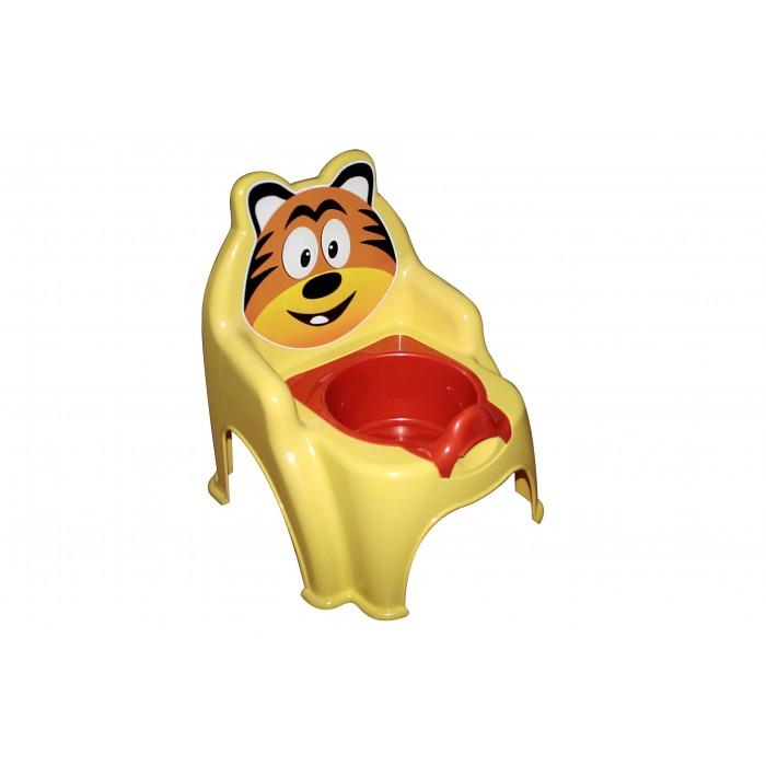 Горшок детский «Тигрёнок», желтый