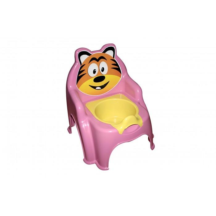 Горшок детский «Тигрёнок», розовый