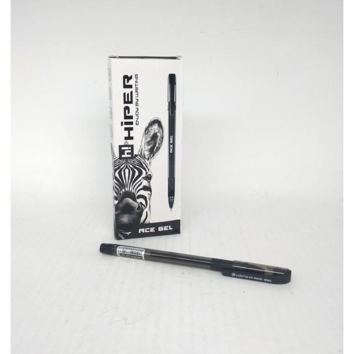 Ручка гелевая Hiper Teen Gel, 0,6мм, черная,цена за уп. 10шт
