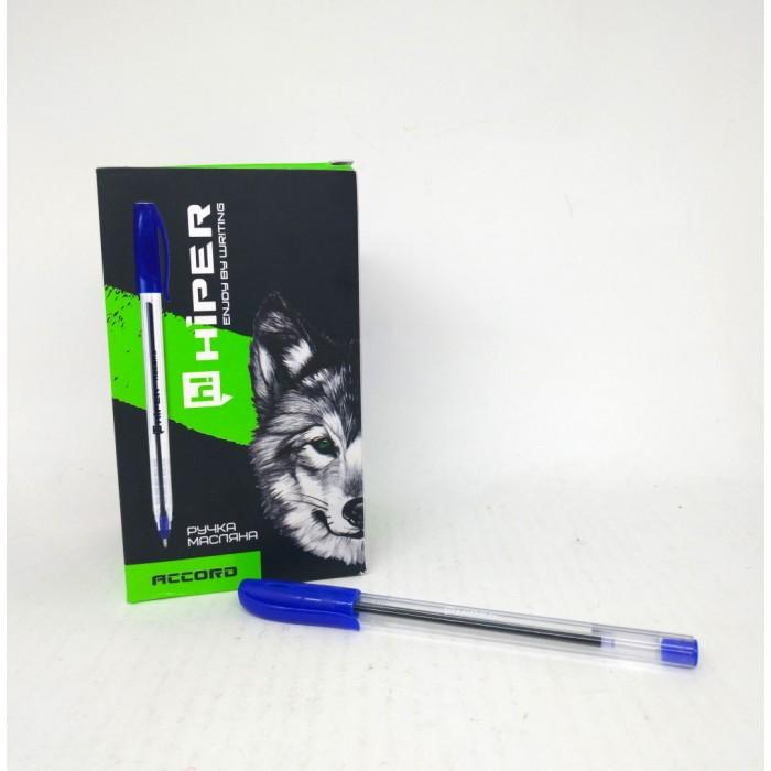 Ручка маслянная Hiper Accord, 0,7мм, синяя, цена за уп. 50шт