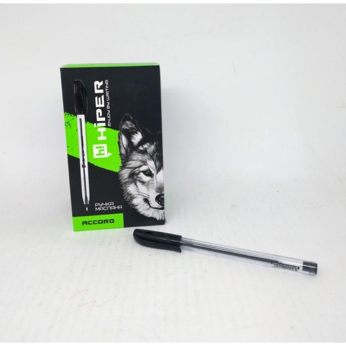 Ручка маслянная Hiper Accord, 0,7мм, черная,цена за уп. 50шт
