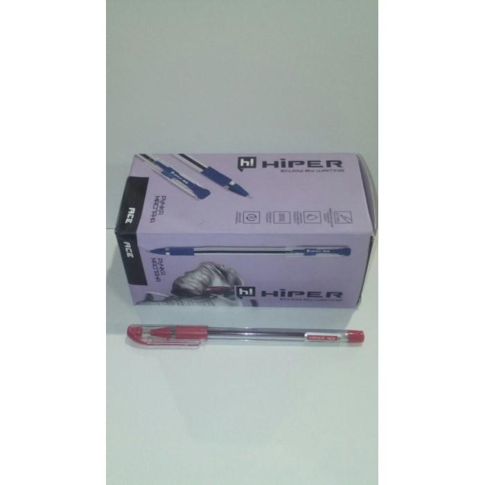 Ручка маслянная Hiper Ace, 0.7мм, красная,цена за уп. 50шт