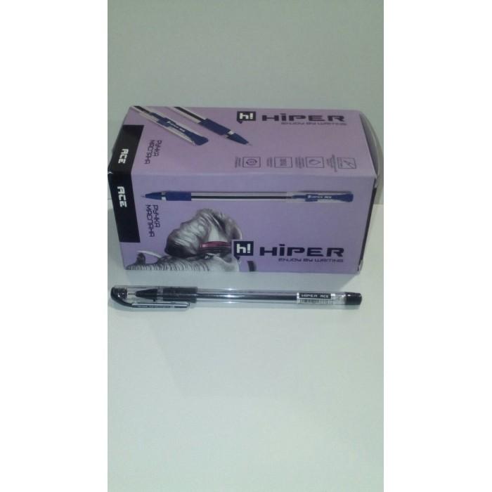 Ручка маслянная Hiper Ace, 0.7мм, черная, цена за уп. 50шт