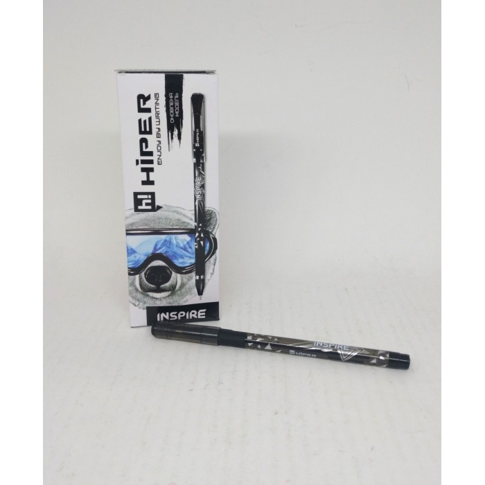 Ручка маслянная Hiper Inspire, 0,7мм, черная, цена за 10шт