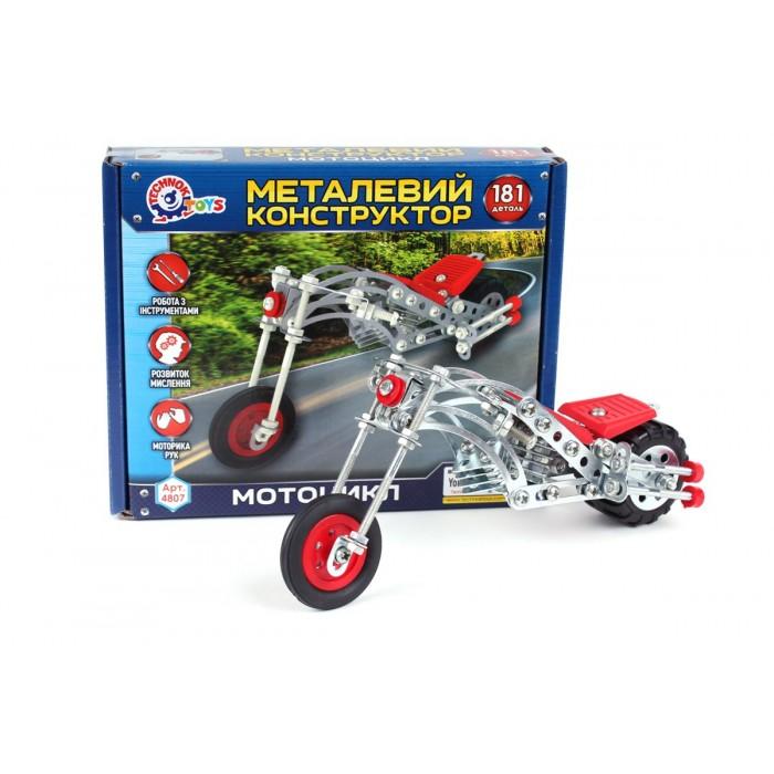 Конструктор металлический «Мотоцикл», 181 деталь