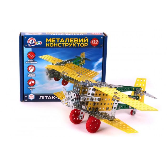 Конструктор металлический «Самолет-биплан», 260 деталей