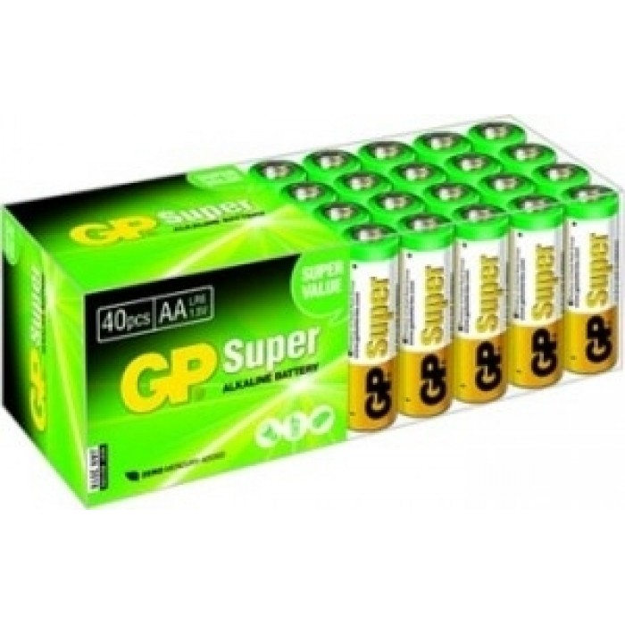 Батарейка GP, 15A-2DP40 щелоч., LR6, ЦЕНА ЗА УП. 40ШТ