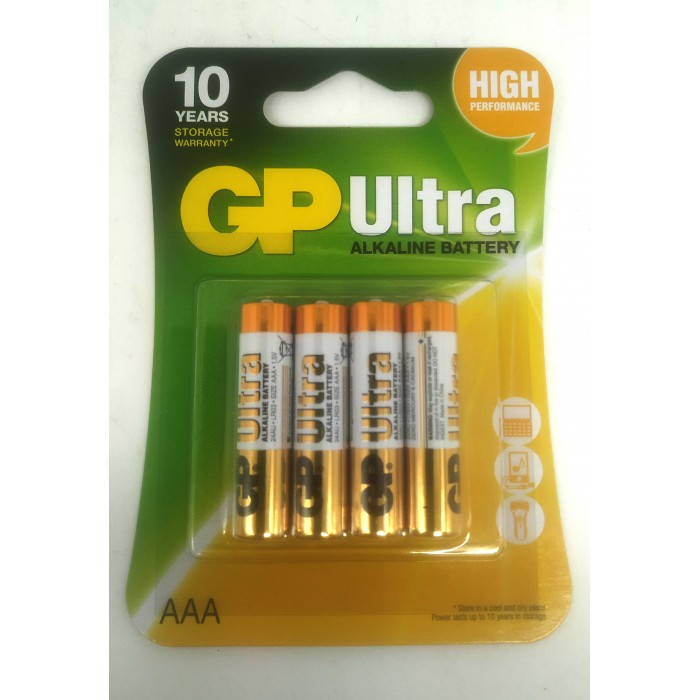 Батарейка GP ALKALINE AAA,1.5V, ЦЕНА ЗА УП., В УП. 4ШТ