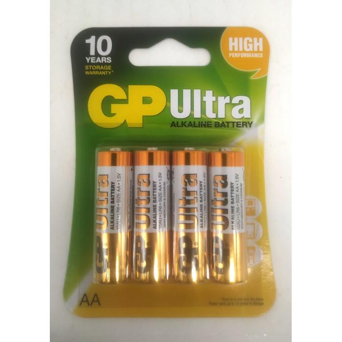 Батарейка GP ULTRA ALKALINE АА, 1.5V, ЦЕНА ЗА УП., В УП.4ШТ