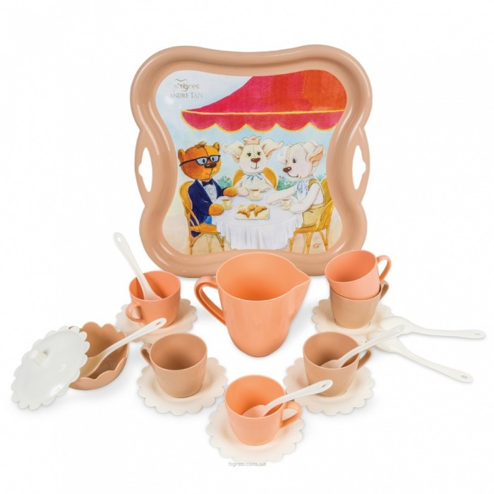 Набор посуды «Модное чаепитие» 22 предмета