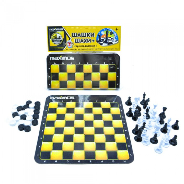 Набор «Шашки + Шахматы»