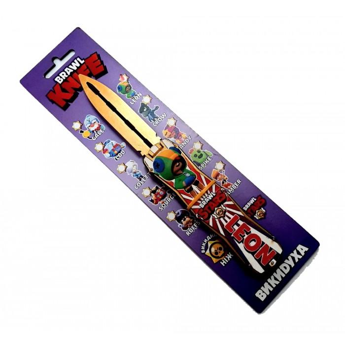 Нож деревянный «ВЫКИДУХА» BRAWL - LEON