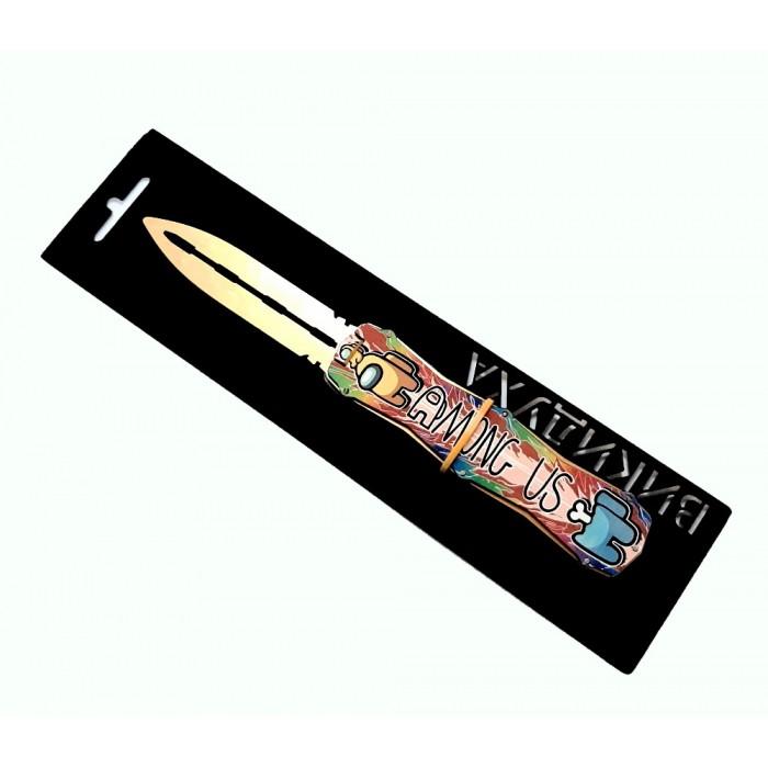 Нож деревянный «ВЫКИДУХА» Am US Радуга