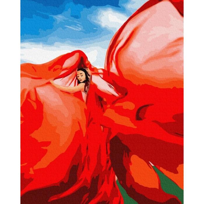 Картина по номерам «Женщина в красном»