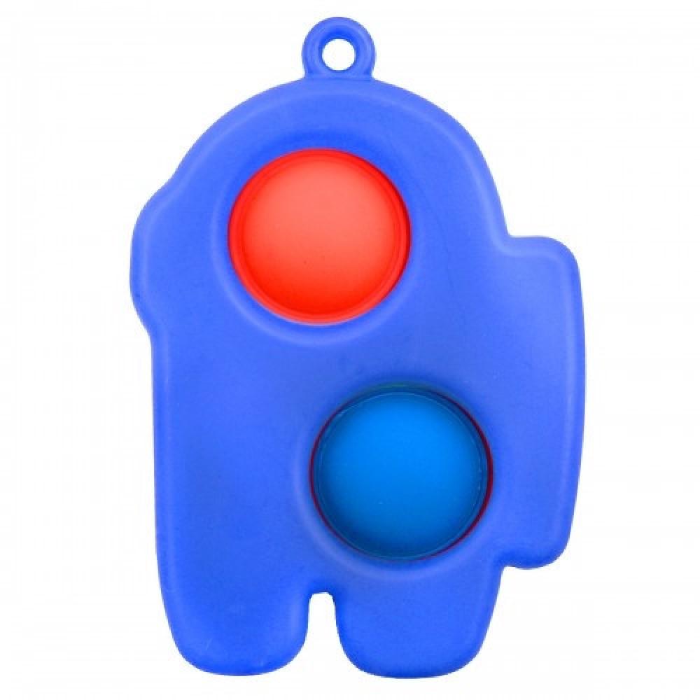 Антистресс игрушка брелок POP IT Dimple toys Амонг Ас