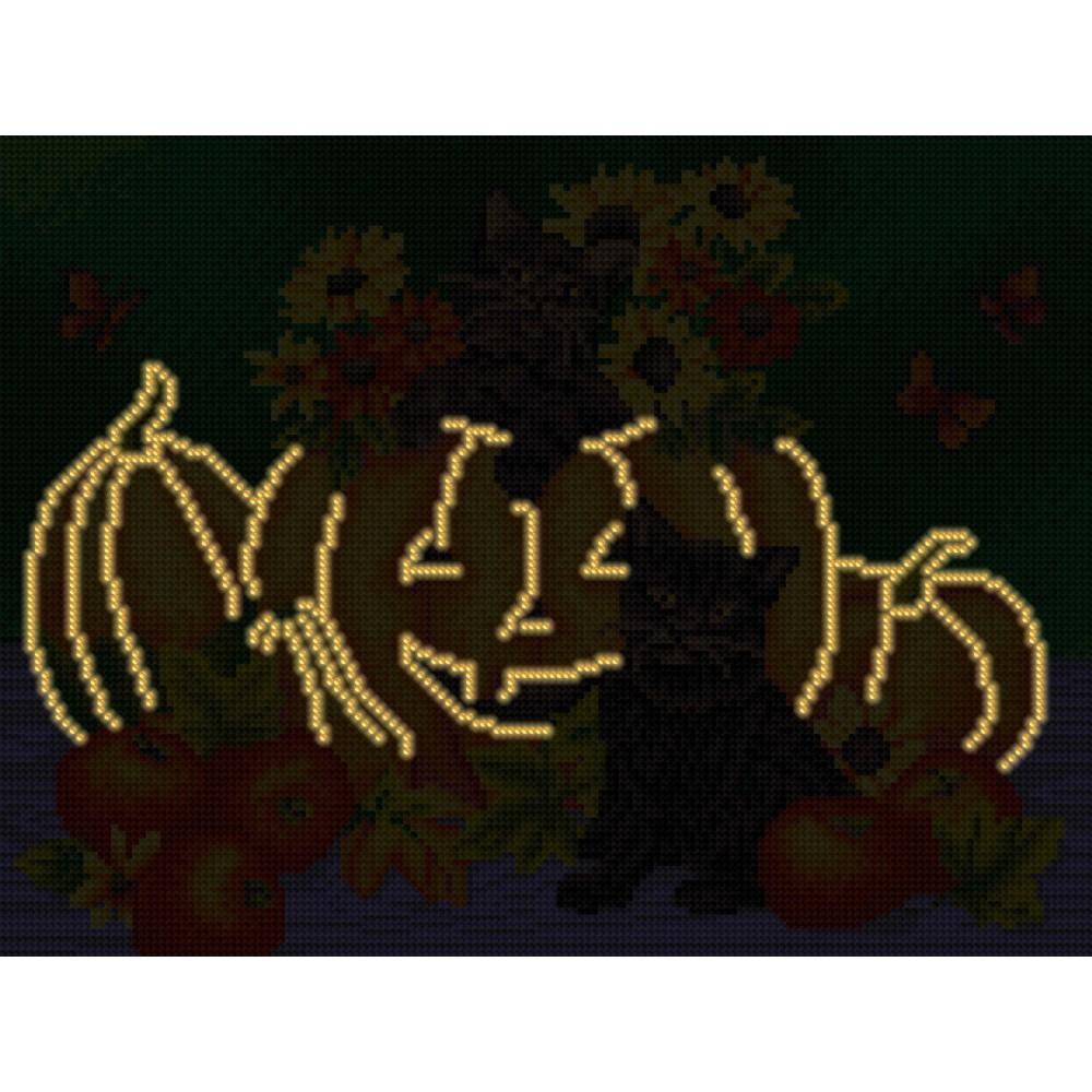 Алмазная мозаика неоновая «Хэллоуин» 30*40см