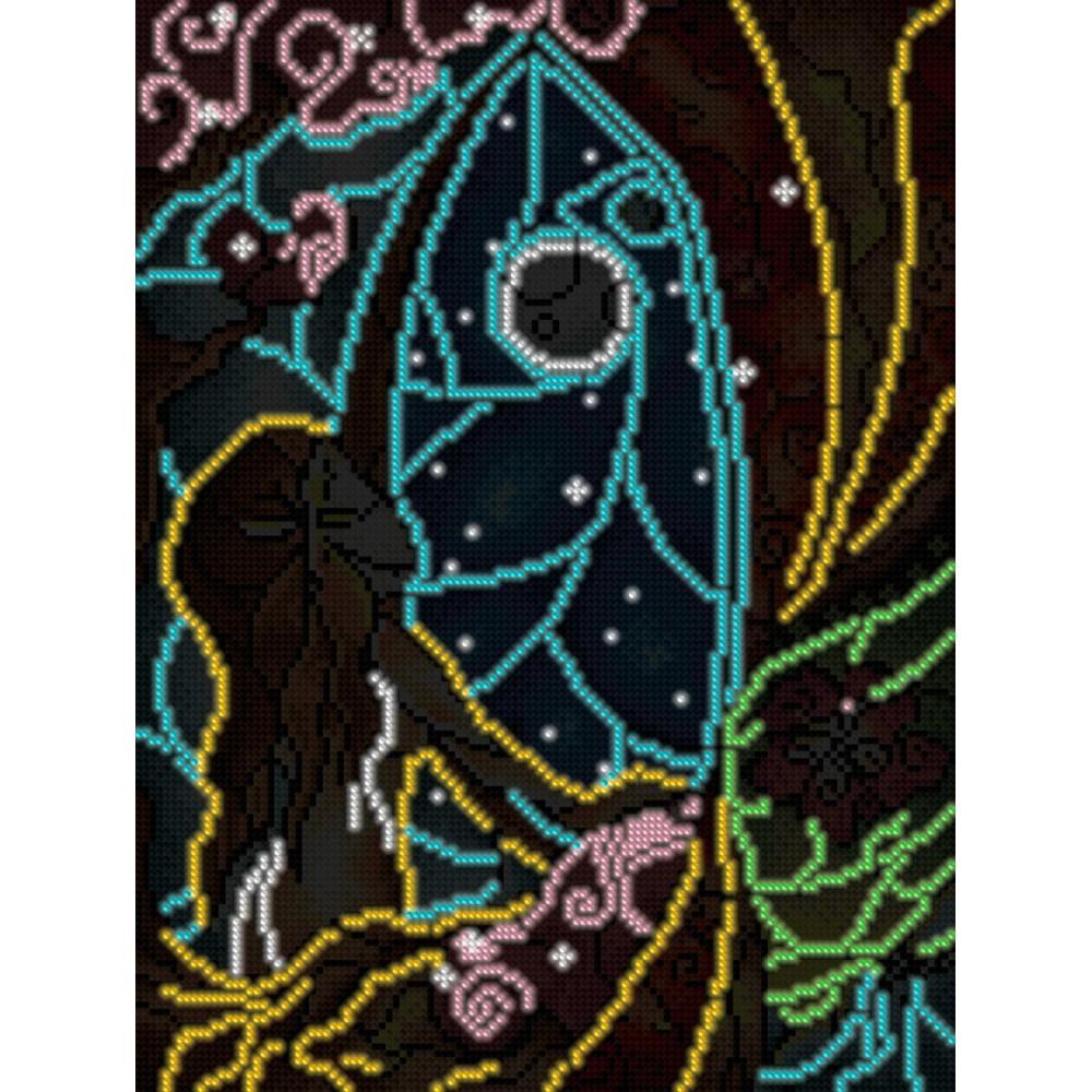 Алмазная мозаика неоновая «Первобытная природа» 30*40см