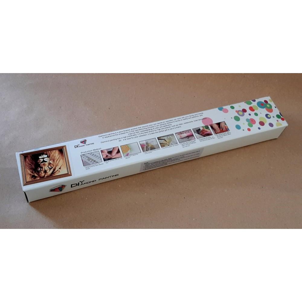 Алмазная мозаика неоновая «Мистический кот» 30*40см