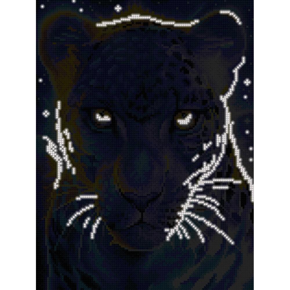 Алмазная мозаика неоновая «Таинственная пантера» 30*40см