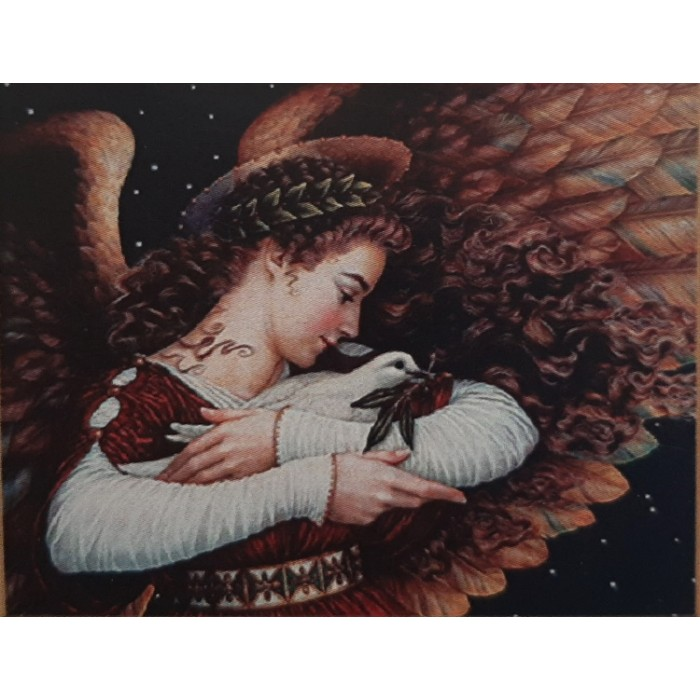 Алмазная мозаика неоновая «Голубь мира» 30*40см