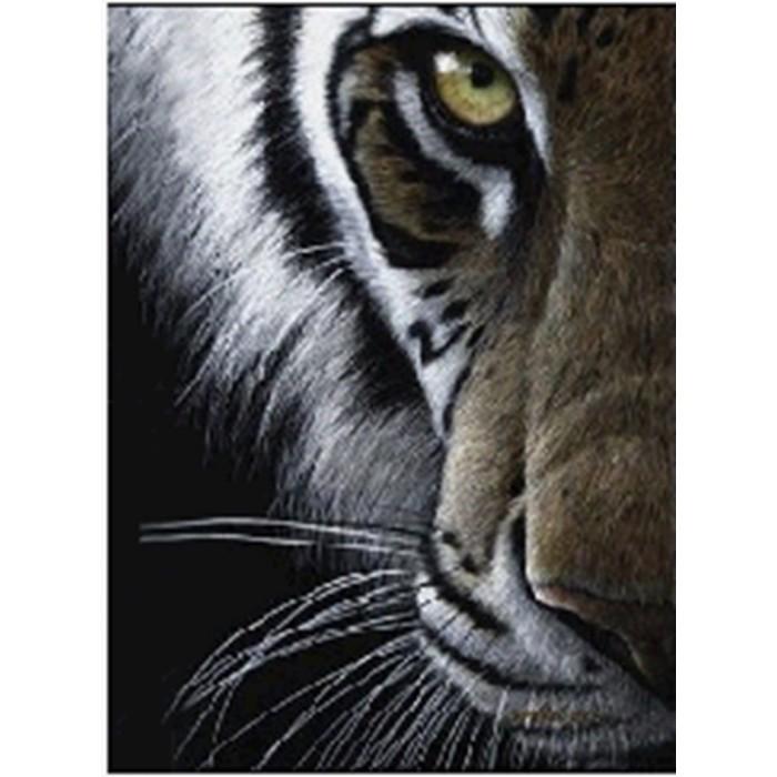 Алмазная мозаика неоновая «Суровый взгляд» 30*40см