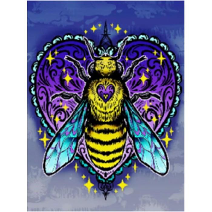 Алмазная мозаиканеоновая «Золотая пчела»  30*40см