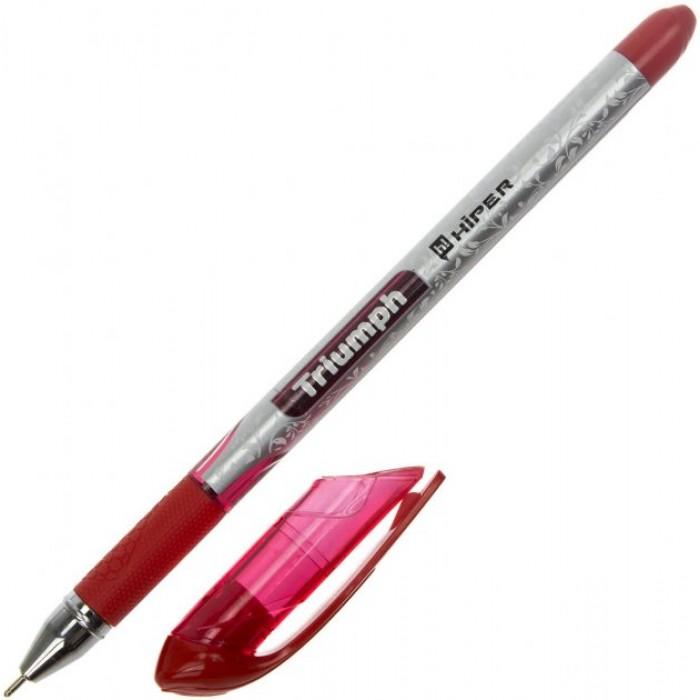 Ручка маслянная Hiper Triumph, 0,7мм, красн, цена за 10шт