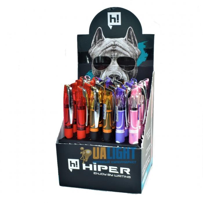 Ручка маслянная Hiper Vertu, 0.7мм, синяя, цена за 30шт