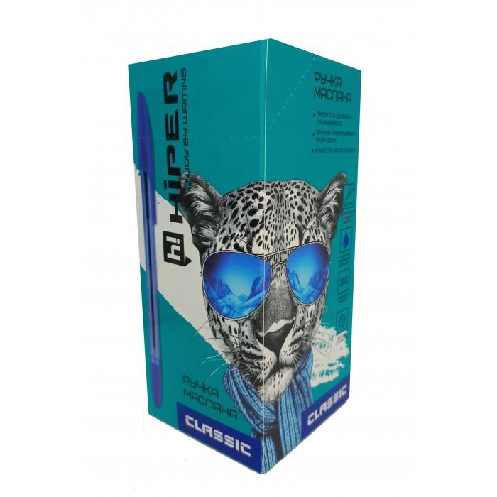 Ручка маслянная Hiper Classic, 1мм, синяя, цена за уп. 50шт
