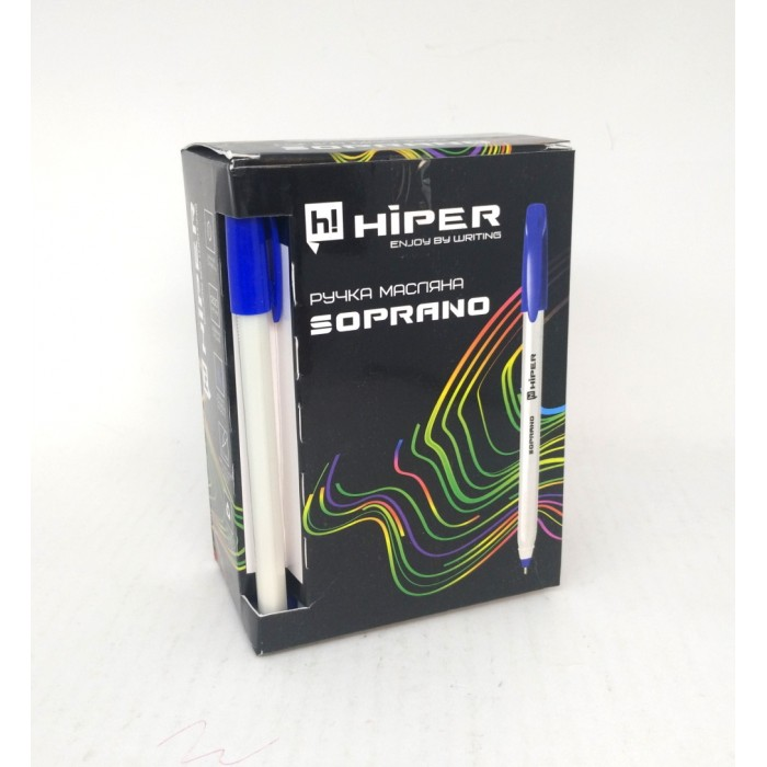 Ручка маслянная Hiper Soprano, 0.7мм, синяя, цена за 50шт