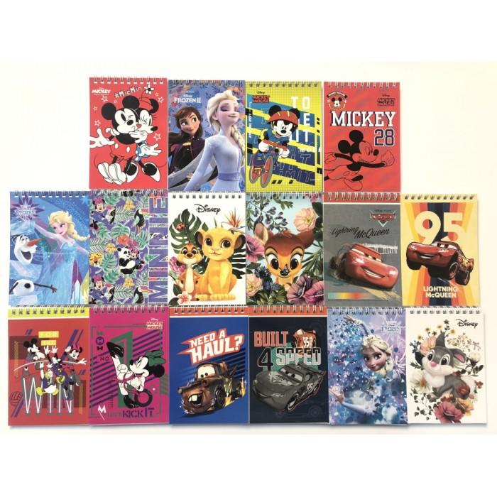 Блокнот А6 48 листов, пружина сверху, Disney, ЦЕНА ЗА 1ШТ
