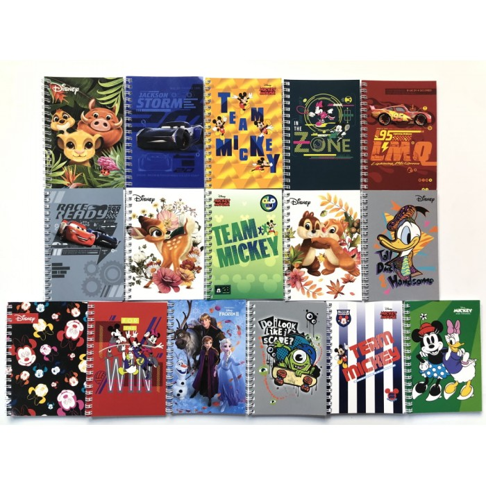 Блокнот А6 48 листов, пружина сбоку, Disney, ЦЕНА ЗА 1ШТ