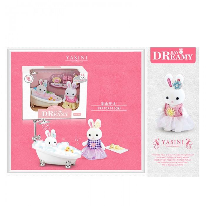 Игровой набор с флоксовыми животными ванная «Happy Family»