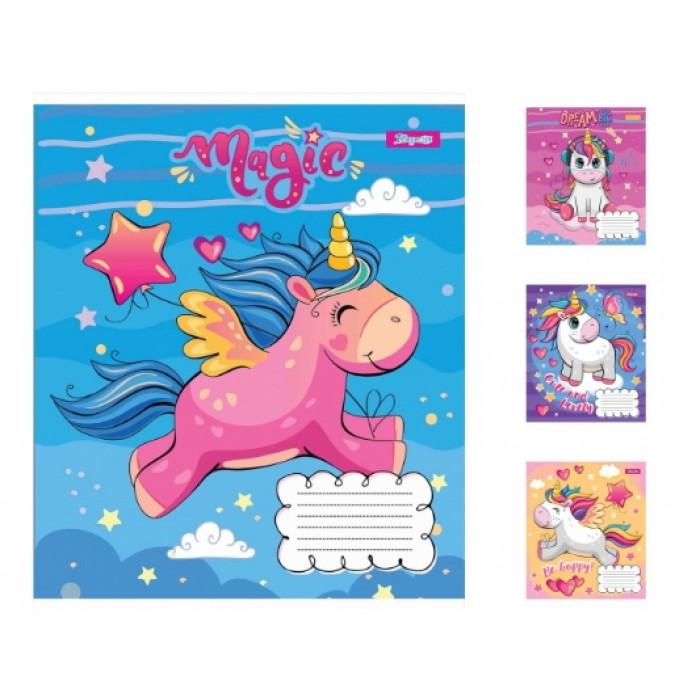 Набор тетрадей 12 лин. Happy unicorn, цена за уп. 25шт