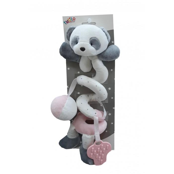 Игрушка-спираль плюшевая «Панда», розовая, 30см
