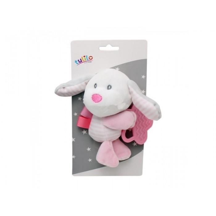 Игрушка мягкая с прорезывателем «Собака», розовая, 15см