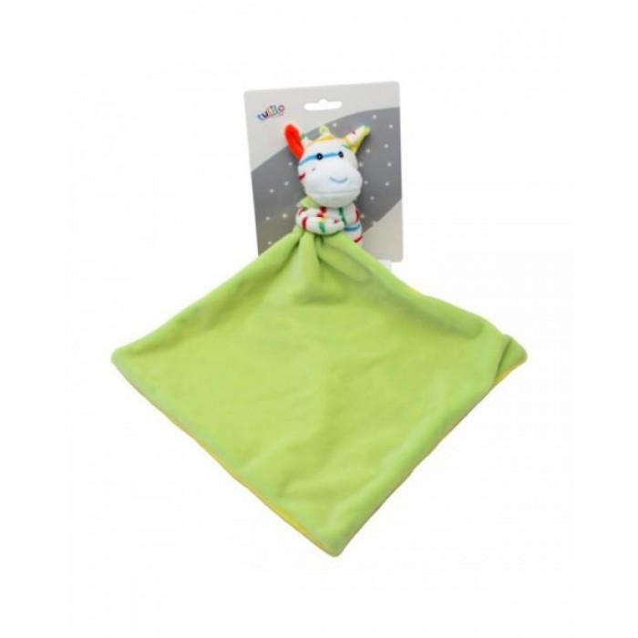 Игрушка-обнимашка «Зебра» 25см, зеленая