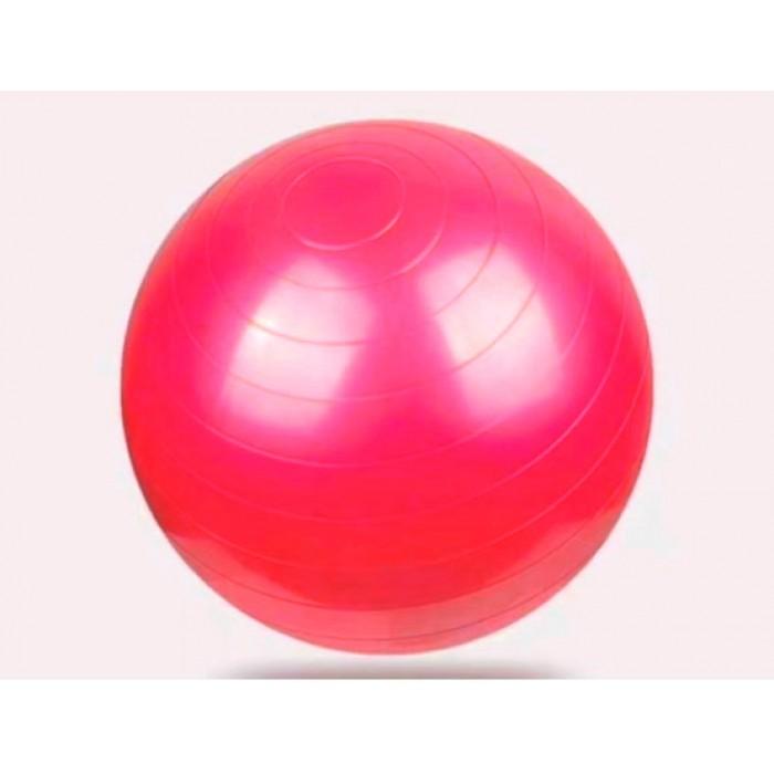 Мяч для фитнеса, йоги глянцевый 55см красный