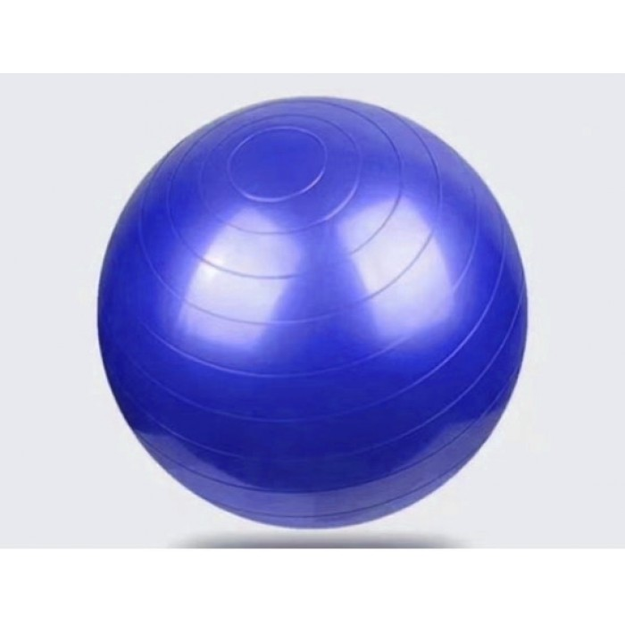 Мяч для фитнеса, йоги глянцевый 55см синий