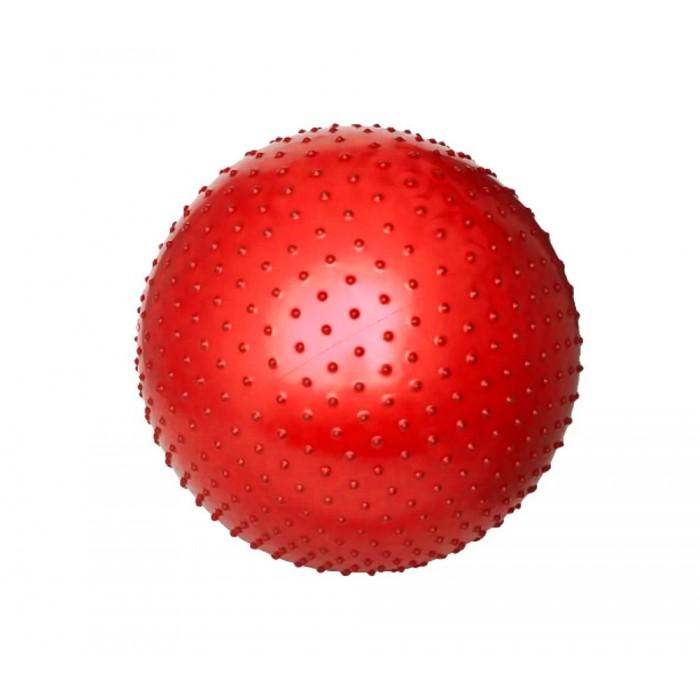 Массажный мяч для йоги, фитнеса 55см красный