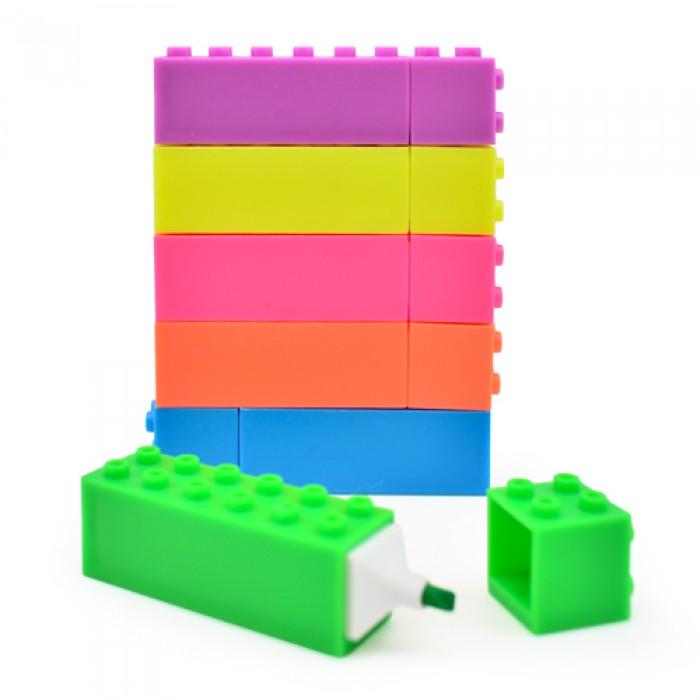 Набор маркеров текстовыделитель «Лего» 6цветов