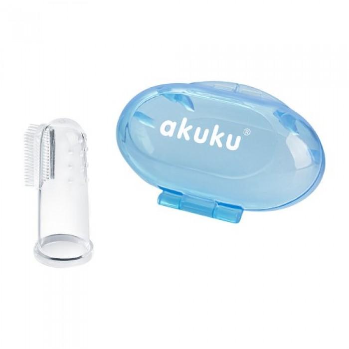 Щетка силиконовая детская для зубов в  футляре